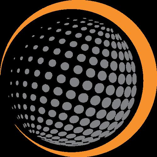 高尔夫球圆球矢量图商标素材矢量logo