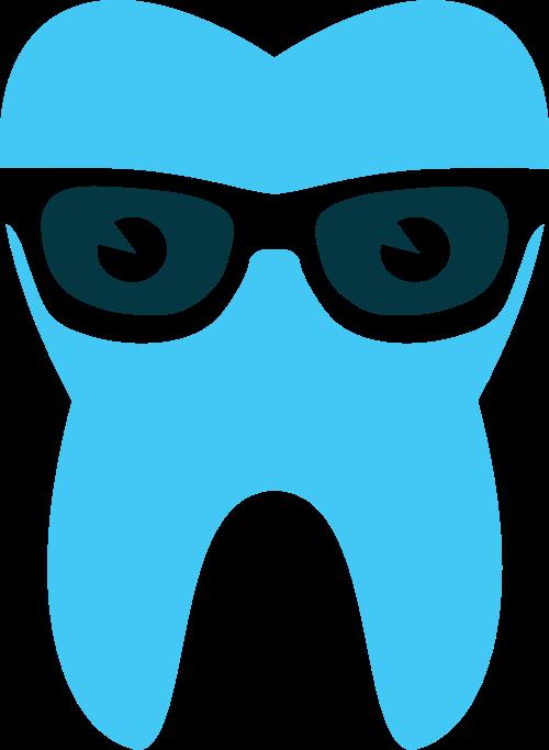 墨镜牙齿矢量图商标素材矢量logo