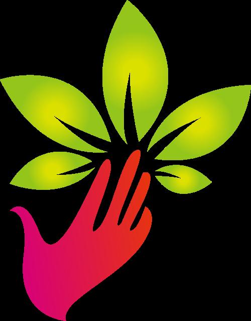 手掌树叶矢量图标志素材矢量logo