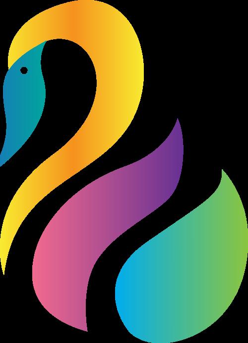 天鹅矢量图商标素材矢量logo