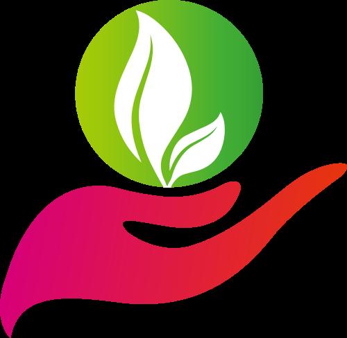 手掌树叶矢量图logo素材矢量logo