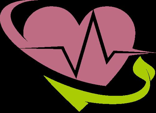 爱心心电图矢量图标志素材矢量logo