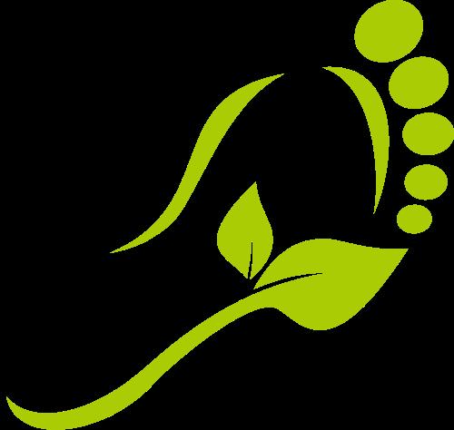脚和树叶矢量图标志素材矢量logo