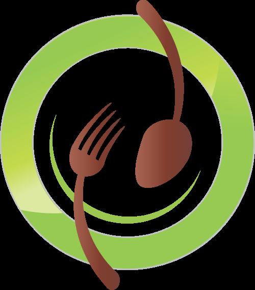 刀叉盘子矢量图标志素材矢量logo
