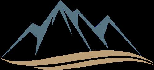 雪山山峰矢量图标志素材矢量logo