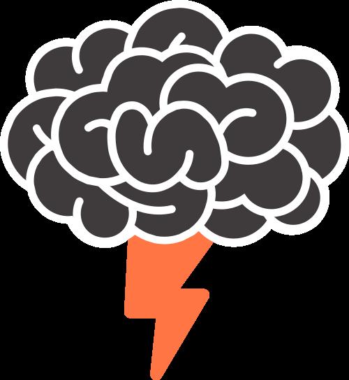 头脑闪电矢量图素标志素材矢量logo