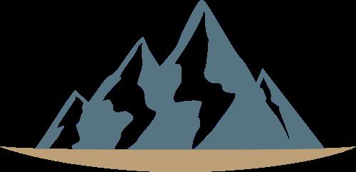 雪山山脉矢量图商标素材矢量logo
