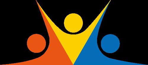 三个小人矢量图logo素材矢量logo