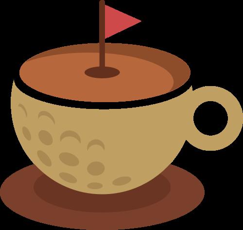 高尔夫咖啡杯矢量图logo素材矢量logo