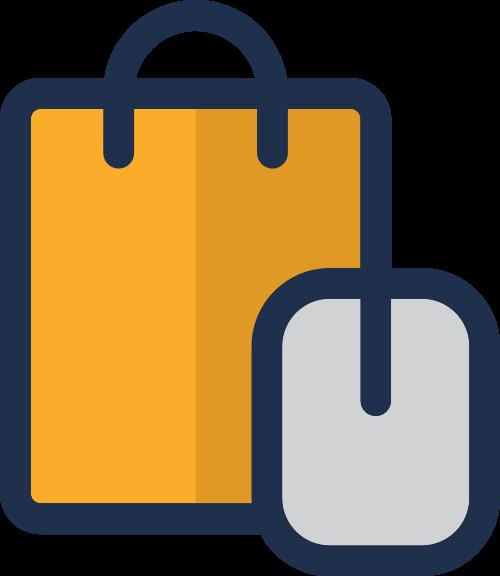 购物袋鼠标矢量图logo素材矢量logo