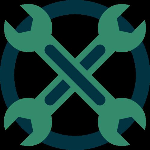 修理扳手矢量图标志素材矢量logo
