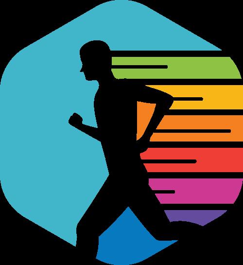 跑步运动者矢量图商标素材矢量logo