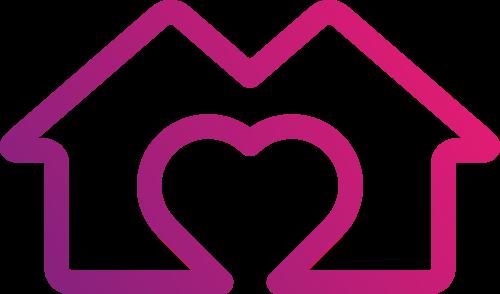 房屋爱心矢量图标志素材矢量logo