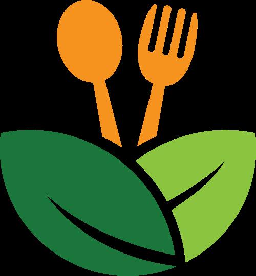 树叶刀叉矢量图logo素材