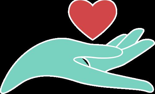 手和爱心矢量图logo素材矢量logo