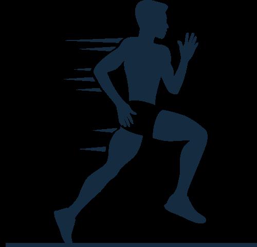 跑步健身矢量图商标素材矢量logo