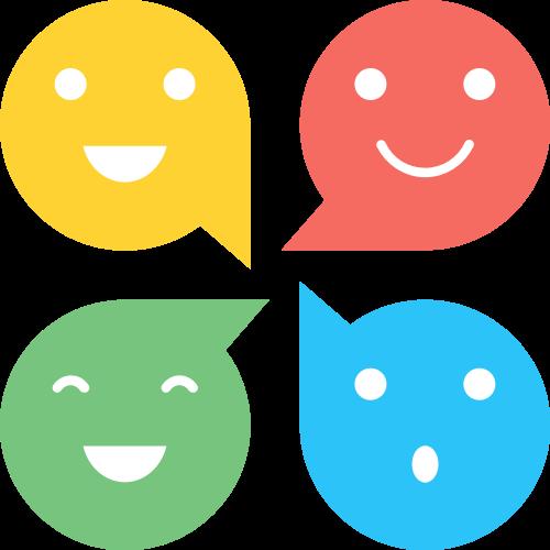 笑脸聊天气泡矢量图标志素材矢量logo