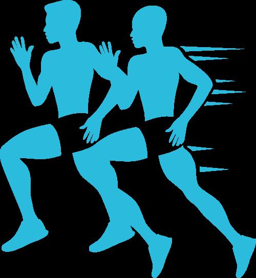 跑步运动矢量图商标素材矢量logo