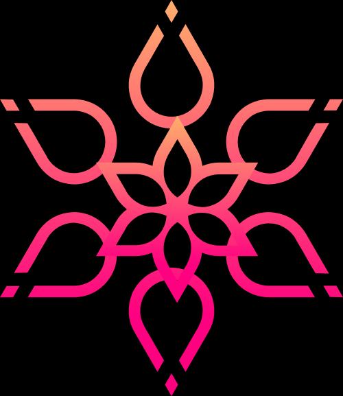 雪花花朵矢量图商标素材矢量logo