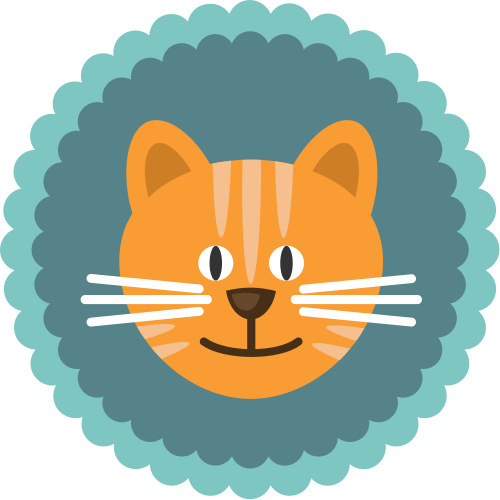 卡通小猫矢量图logo素材矢量logo