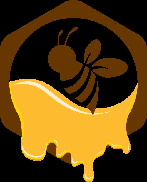 蜜蜂蜂蜜矢量图商标素材矢量logo