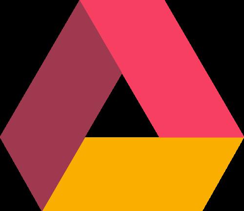 彩色三角矢量图标志素材矢量logo