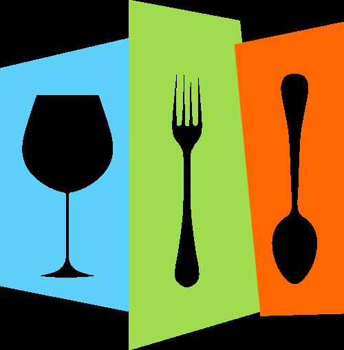 餐具矢量图商标素材矢量logo