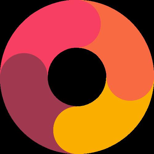 彩色圆圈环矢量图logo素材矢量logo