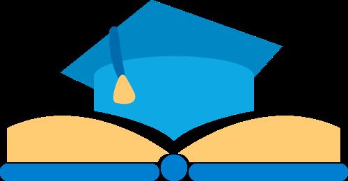 博士帽书本矢量图logo素材矢量logo