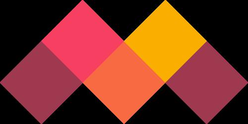 方块彩色字母M矢量图logo素材矢量logo