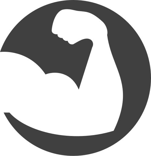 肌肉健身矢量图商标素材矢量logo