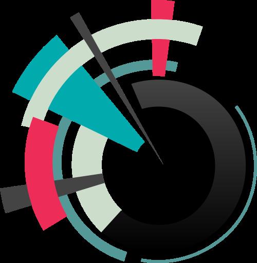圆形色块矢量图标志素材矢量logo