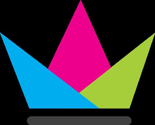 彩色皇冠三角矢量图标志素材矢量logo