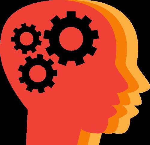 人脑齿轮矢量图标志素材矢量logo