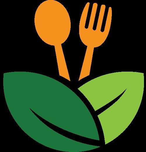 叶子刀叉矢量图标志素材矢量logo