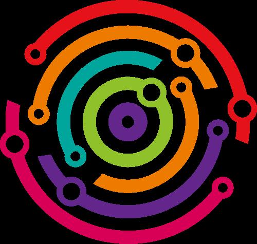 彩色圆形线条矢量图标志素材矢量logo