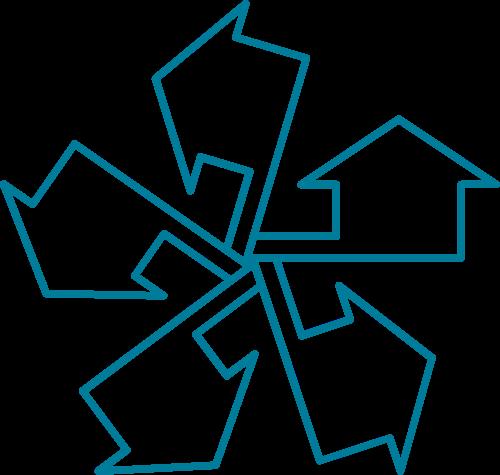 房屋箭头矢量图标志素材矢量logo