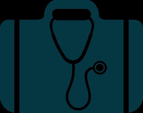 公文包听诊器矢量图logo素材矢量logo