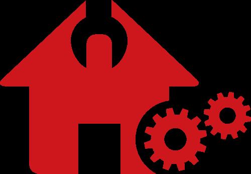 房屋齿轮矢量图标志素材矢量logo