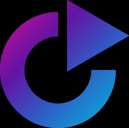 渐变圆环三角矢量图标志素材矢量logo