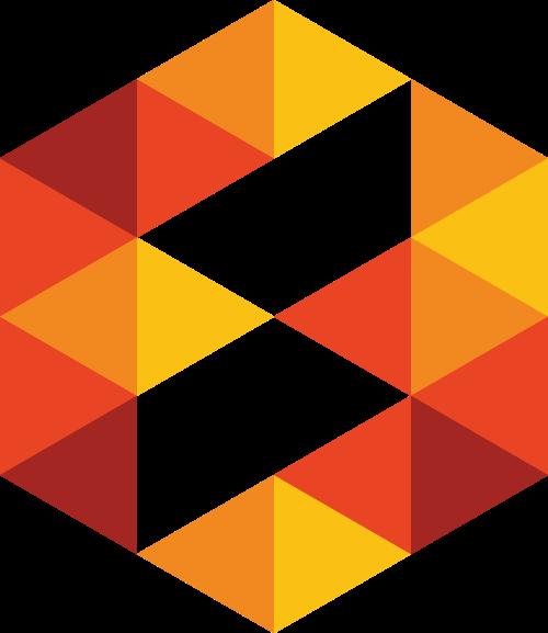 三角六边形矢量图logo素材矢量logo
