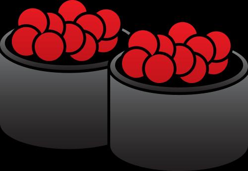 鱼子寿司矢量图标志素材矢量logo