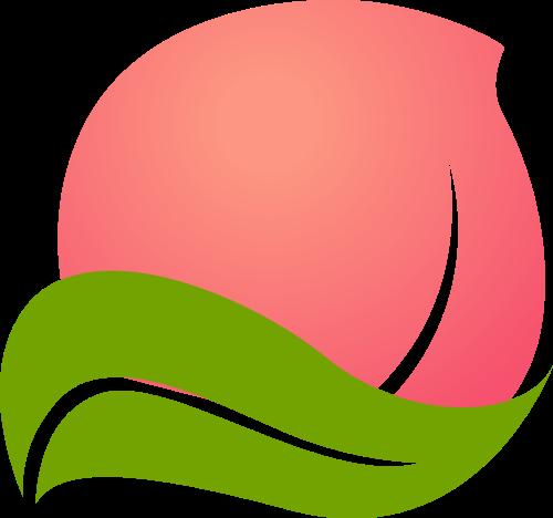 桃子矢量图logo素材矢量logo