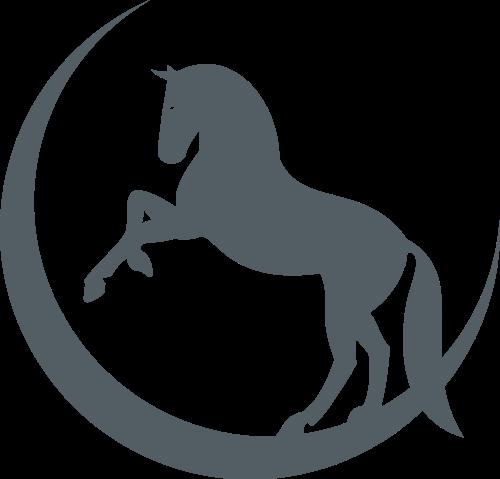 月亮和马矢量图logo素材矢量logo