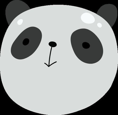 熊猫矢量图logo素材矢量logo