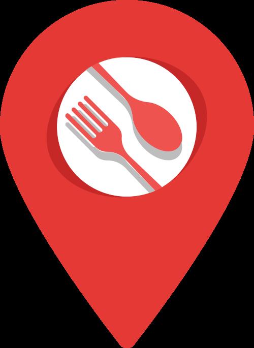 刀叉餐厅坐标矢量图logo素材