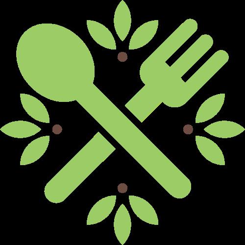 刀叉叶子矢量图logo素材