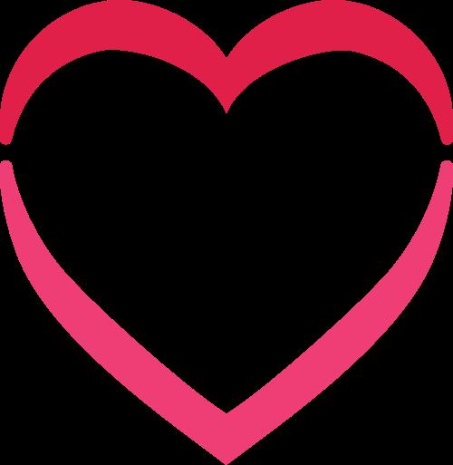 爱心矢量图标志素材矢量logo