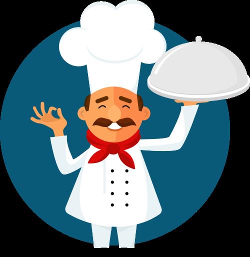 厨师矢量图logo素材