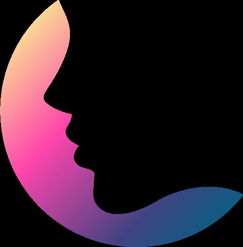 女人脸矢量图logo素材矢量logo
